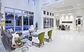 Picture white, villa, luxury, living space