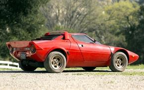 Picture supercar, rear view, Lancia, 1973, Stratos, Lancia, Stratos
