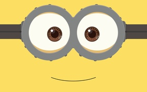 Wallpaper fantasy, yellow, smile, Minion, goggles, by kevinconsen
