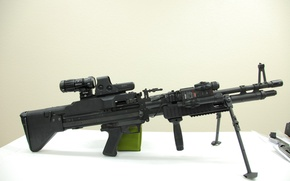 Picture gun, weapon, saw, EOTech, machine gun, M60, heavy weapon, custon