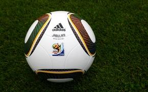 Wallpaper Photo, Africa, World, Cup, Fifa, Jabulani, South, 2010, Grass, Lawn, The ball