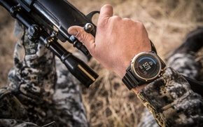 Wallpaper rifle, Smartwatch, camouflage clothing