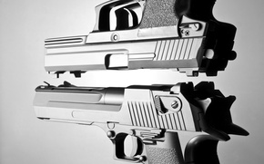 Picture metal, gun, pistol, white, automatic, black, pistols, beautiful, and, defender, death, weapons, danger, hands, real, ...