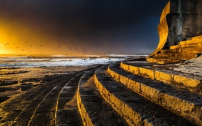 Picture clouds, light, landscape, sunset, nature, light, nature, sunset, seascape, cloudscape