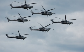"Picture flight, helicopters, shock, ""The eagles"", Mi-28N"