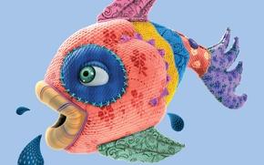 Picture Fish, Scraps, Sponge, Fish