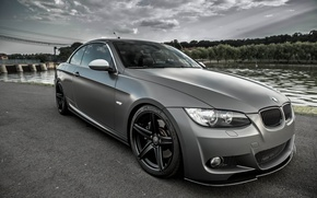 Picture The sky, BMW, Grey, Clouds, BMW, E93, Coupe, Deep Concave