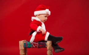 Picture child, baby, Christmas, costume, New year, Christmas, New Year, child, little boy, little boy, Santa …