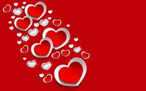 Picture heart, diamonds, red, love, heart, romantic, diamonds, Design by Marika
