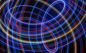 Picture rays, line, background, bending, loop, track