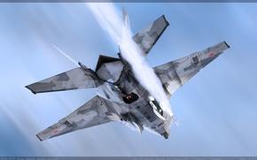 Wallpaper MiG, rocket, the air