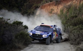 Picture track, skid, Volkswagen, Touareg Race