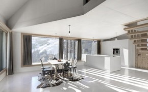 Picture design, house, style, Villa, interior, kitchen, dining room, living space