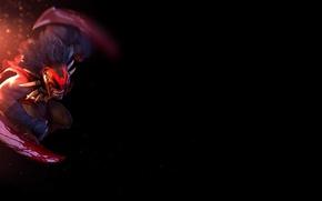 Picture blood, minimalism, minimalism, Valve, games, Bloodseeker, Dota, DotA, Bludsiker