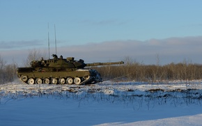 Picture winter, field, the sky, tank, Leopard 1