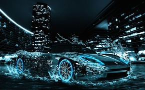 Picture auto, water, machine, water car