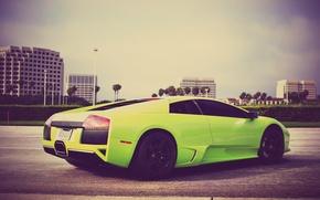 Picture Lamborghini, Lamborghini, Green, Murcielago, Supercar, Murciélago, LP640-4