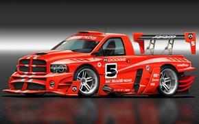 Picture art, Dodge, Dodge, front, race car, Ram, kit