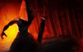 Picture weapons, hand, sword, the demon, helmet, silent hill