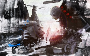 Picture the demon, art, fight, devil may cry, dante, Virgil, Devil May Cry 4: Special Edition