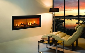 Picture room, interior, chair, fireplace