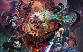 Wallpaper Traitor King, Heroes of the Storm, Legendary Brewmaster, Illidan Stormrage, terra nova, diablo, The Betrayer, ...