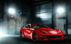 Picture Ferrari, red, front, Berlinetta, F12