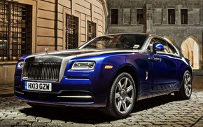 Picture blue, pavers, Rolls Royce, Wraith