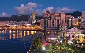 Picture the city, Marina, the evening, Mauritius, carousel, Port Louis