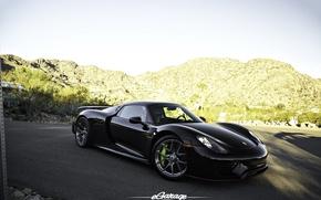 Picture Porsche, Black, Spyder, 918, eGarage