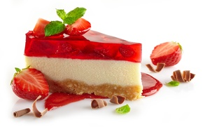 Picture chocolate, strawberry, cake, cake, jelly