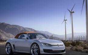 Picture Volkswagen, Roadster, convertible, BleuSport