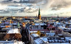 Picture snow, home, roof, Copenhagen