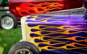 Picture retro, airbrushing, classic, hot-rod, classic car
