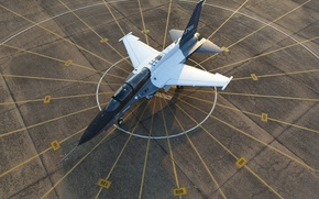 Picture T-50A, Lockheed Martin, combat training, the plane, the airfield