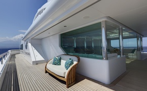 Picture luxury, deck, motor, yacht Pegasus