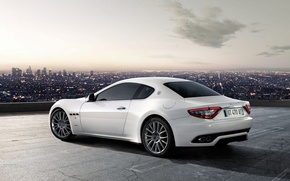 Wallpaper white, Maserati, GranTurismo-S