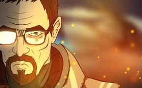 Picture Half-Life, cartoon, fan art, gordon freeman