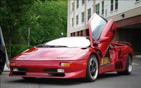 Picture Lamborghini, Red, Diablo, (1996)