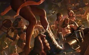 Picture feet, Age of Conan, booze, Brawl, rum