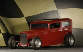 Picture Ford, flag, Ford, view, 1932, Sedan, Custom, Buttera-Bradley