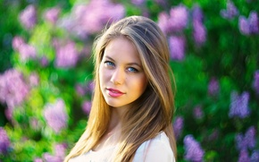 Picture look, girl, background, portrait, makeup, hairstyle, brown hair, bokeh, venci iordanov, Lety