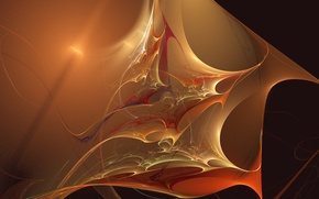 Picture wave, light, abstraction