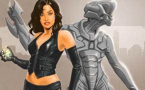 Picture look, girl, fiction, robot, art, cyborg, cyberpunk