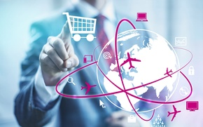 Picture Internet, the globe, business, sale