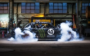 Picture Gymkhana, Block, Side, Hoonicorn, SEVEN, 845 hp, Ken, Front, Smoke, 1965, RTR, Mustang, Ford
