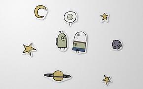 Picture paper, stars, crank