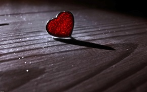 Wallpaper red, heart, shadow