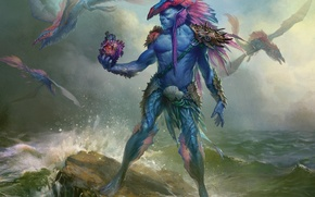 Picture sea, heart, monster, magic the gathering