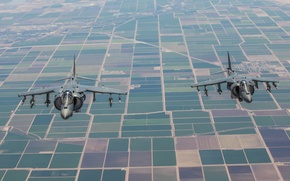 Picture earth, fighters, pair, stormtroopers, AV-8B, Harriers